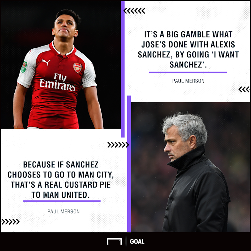 Alexis Sanchez Manchester United gamble custard pie