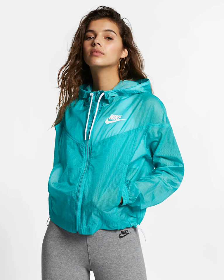 """<p>Wear this lightweight jacket before and after a workout as an extra layer. It's designed with bungee toggles so you can easily customize its fit.</p> <p><strong>Buy it:</strong> $83 (originally $110), <a href=""""https://www.nike.com/t/sportswear-windrunner-womens-jacket-sfHtf1/AR3094-309"""" rel=""""nofollow"""">nike.com</a></p>"""