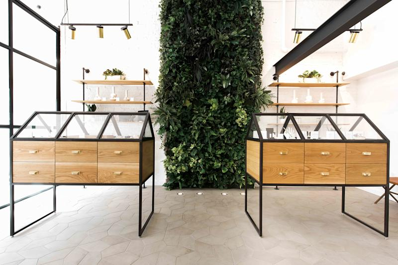 Serra, in Portland, sells a range of high-design cannabis accessories in a stylish retail setting.