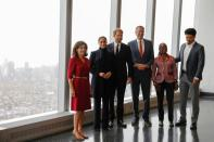 Britain's Prince Harry and Meghan, The Duke and Duchess of Sussex, visit One World Trade Center in Manhattan, New York City
