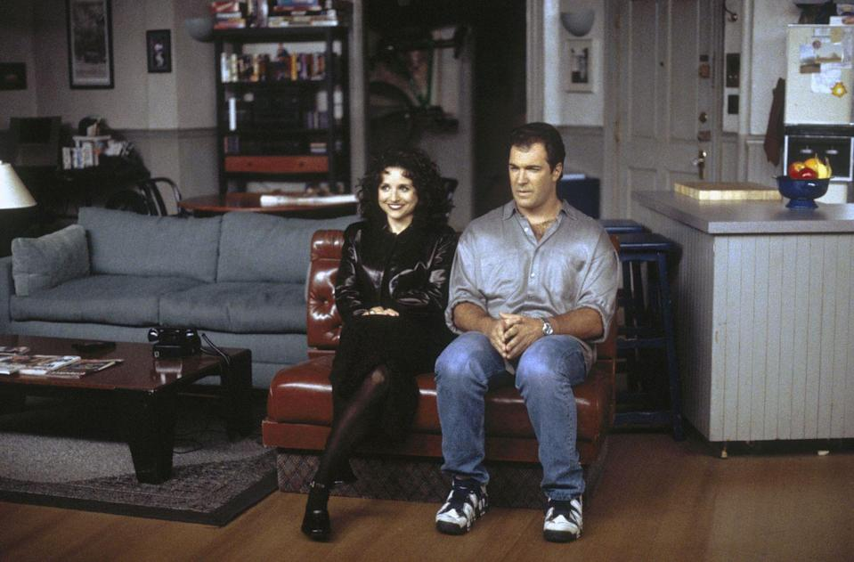 """<p>Patrick Warburton starred as a reoccurring guest star on the series as one of Elaine's boyfriends, David Puddy. Warburton <a href=""""https://www.news.com.au/entertainment/tv/flashback/why-seinfeld-actor-patrick-warburton-tried-to-avoid-jerry-seinfeld-on-set/news-story/e30143b1b10e2424bcf8ac5bf8a0254b"""" rel=""""nofollow noopener"""" target=""""_blank"""" data-ylk=""""slk:later revealed"""" class=""""link rapid-noclick-resp"""">later revealed</a> that Seinfeld gifted the cast with Cartier watches, with the show's name engraved on the back, as a finale present. </p>"""