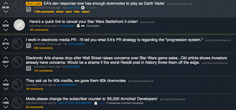 fans are outraged by the new star wars game
