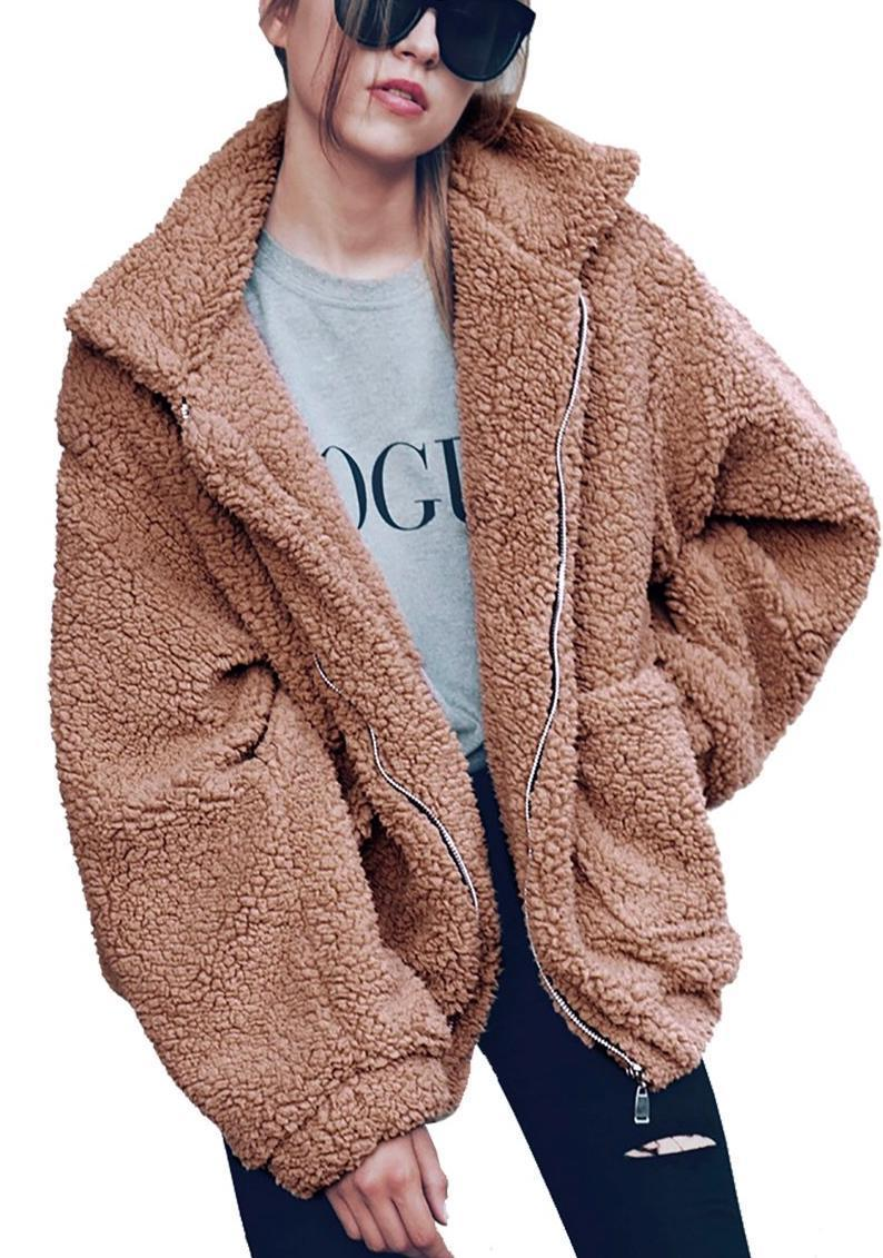 """As the reigning #1 best seller in the Women's Fur and Faux Fur Jackets section on Amazon, this fuzzy zip-up number has what it takes to become your everyday quarantine uniform. Luckily, it's available in a ton of colors, so you can wear it everyday without anyone noticing. $32, Amazon. <a href=""""https://www.amazon.com/PRETTYGARDEN-Fashion-Shearling-Oversized-Pockets/dp/B07FDZ11YV"""" rel=""""nofollow noopener"""" target=""""_blank"""" data-ylk=""""slk:Get it now!"""" class=""""link rapid-noclick-resp"""">Get it now!</a>"""