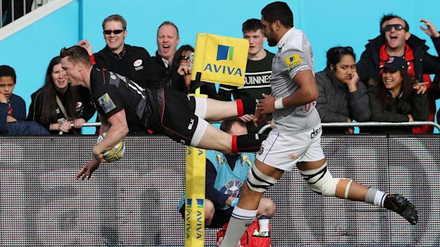 Saracens wing Chris Ashton will make history if he scores a try in Saturday's European Champions Cup showdown at Murrayfield.