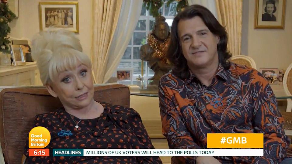 Barbara Windsor surprised 'Good Morning Britain' viewers as she made a rare TV appearance to wish them a happy Christmas on behalf of the Alzheimer's Society (ITV)