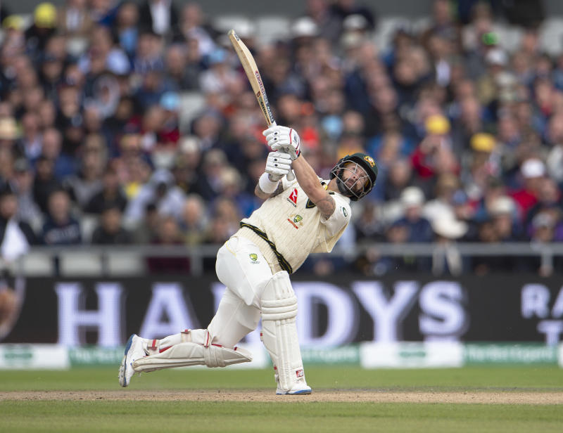 MANCHESTER, ENGLAND - SEPTEMBER 05: Matthew Wade of Australia is caught on the boundary during day two of the 4th Specsavers Ashes Test at Emirates Old Trafford on September 5, 2019 in Manchester, England. (Photo by Visionhaus/Getty Images)
