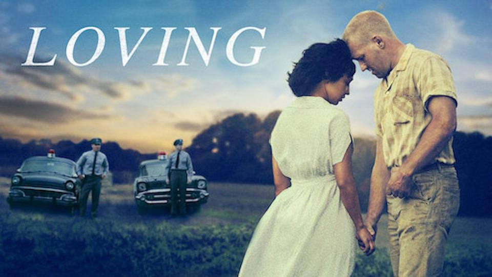 """<p>A true story with an incredibly important message, <em>Loving</em> follows the lives of Richard and Mildred Loving. An interracial couple from Virginia, Richard and Mildred had to fight for their marriage, relationship, and children in the face of laws that said Black and white people should not wed. The film is a portrait of a couple in love, but also an important reminder of injustice.</p><p><a class=""""link rapid-noclick-resp"""" href=""""https://www.netflix.com/watch/80099974?trackId=255002876&tctx=6%2C3%2C72120aa6-5553-4e6a-a0e4-39fd32bf4793-13315773%2Ca8ed29ec-b206-4148-ba3b-7cbf385ff09e_12148812X96XX1607718788637%2Ca8ed29ec-b206-4148-ba3b-7cbf385ff09e_ROOT%2C"""" rel=""""nofollow noopener"""" target=""""_blank"""" data-ylk=""""slk:STREAM NOW"""">STREAM NOW</a></p>"""