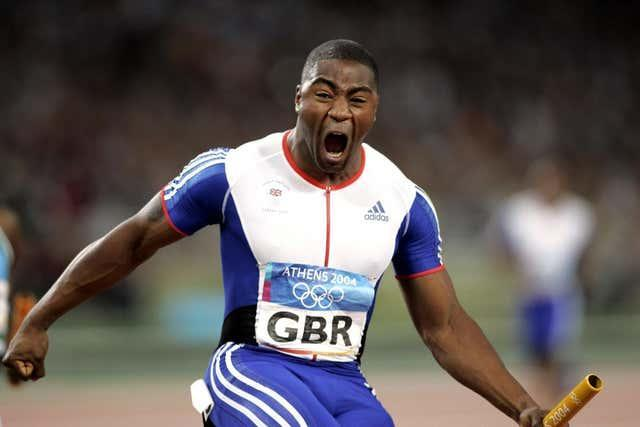 Mark Lewis-Francis after winning gold in 2004