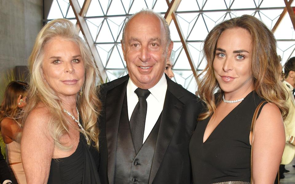 Sir Philip Green, Lady Tina and their daughter