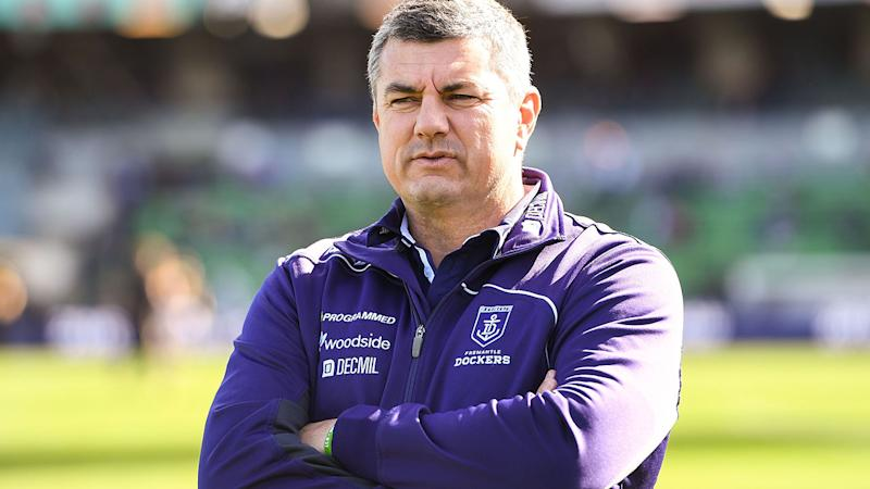 Peter Sumich, pictured here in 2016 with the Fremantle Dockers.