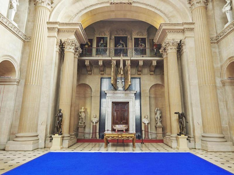 'Yves Klein Pure Pigment' installation at Blenheim Palace (Blenheim Art Foundation)