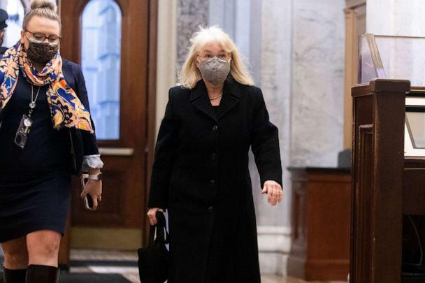 Sen. Patty Murray, D-Wash., walks into the U.S. Capitol on Feb. 11, 2021 in Washington.  (Michael Reynolds/Getty Images/Pool)