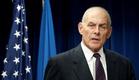 FILE PHOTO --  Homeland Security Secretary John Kelly delivers remarks on issues related to visas and travel