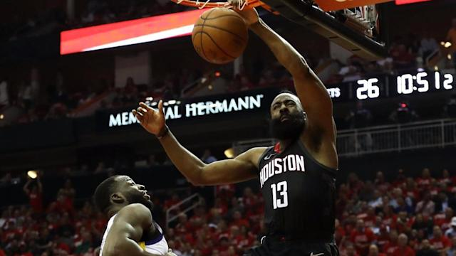 The Houston Rockets are one win away from the NBA Finals after a 98-94 win over the Warriors in Game Five.