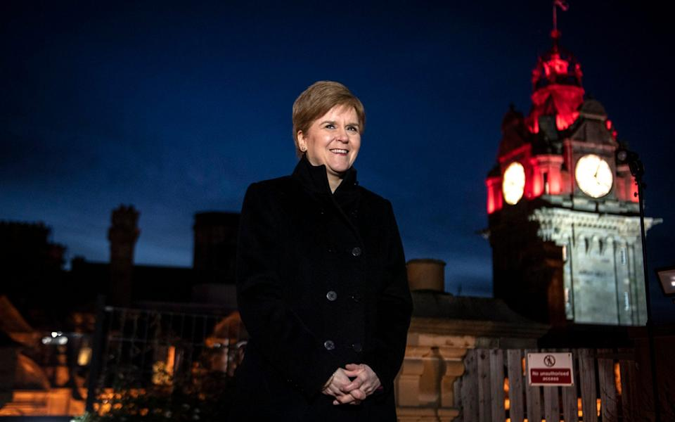 The First Minister said she had not yet decided whether she would see her own parents at Christmas - Andy Buchanan/PA