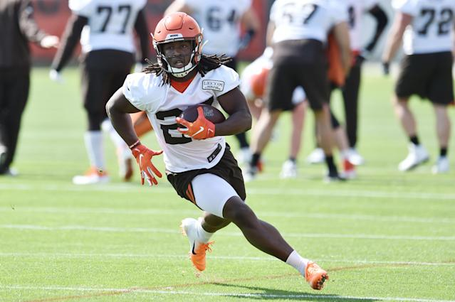 """The Browns, who have a """"zero-tolerance"""" policy for Kareem Hunt, acknowledged his latest incident involving police. (Reuters)"""