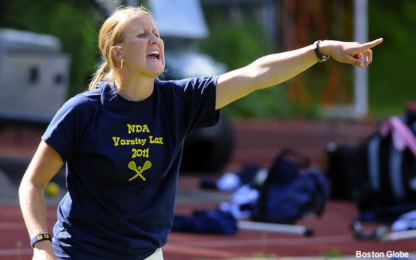 Notre Dame girls lacrosse coach Meredith Frank