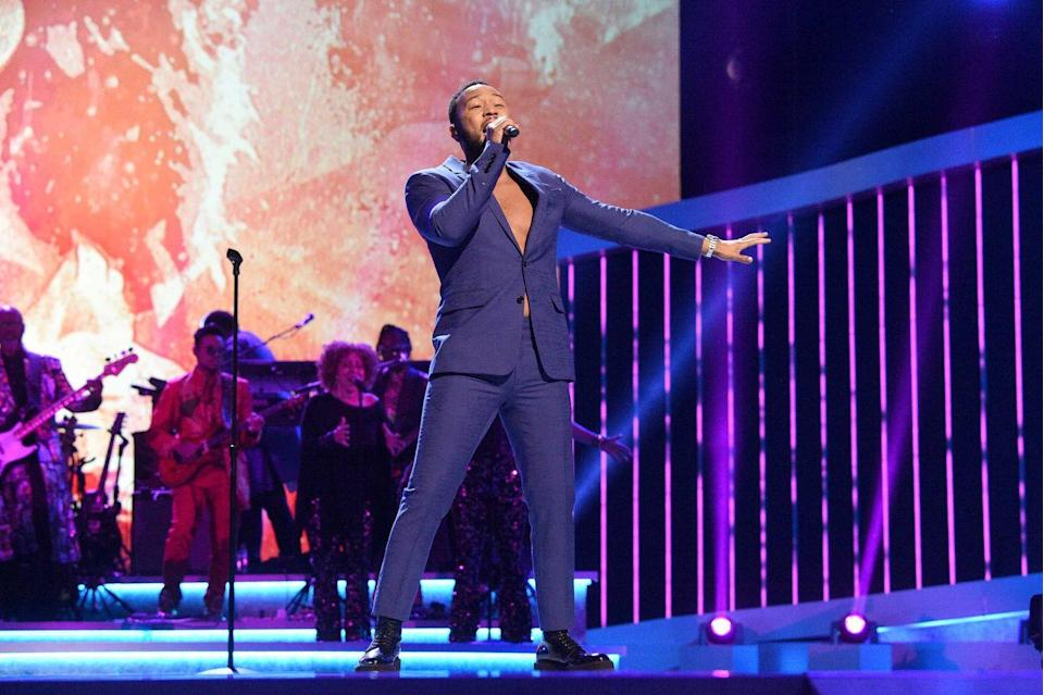 "<p><strong>John Legend </strong></p><p>John Legend, from Springfield, Ohio, is literally EGOT (Emmy, Grammy, Oscar, and Tony) status. He's super talented hitting number one with his love song to swoon us all, ""All of Me"". Nowadays you can catch him on his perfect wife Chrissy Teigen's social media or as a coach on <em>The Voice</em>.</p>"