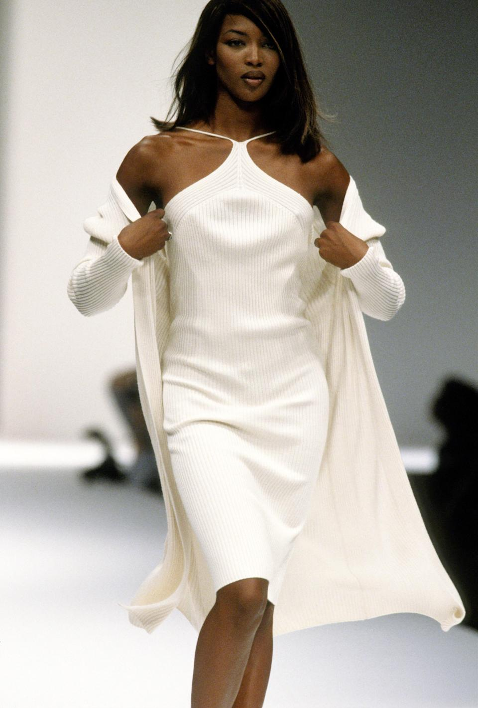 Naomi Campbell at the Laura Biagiotti Spring 1996 show
