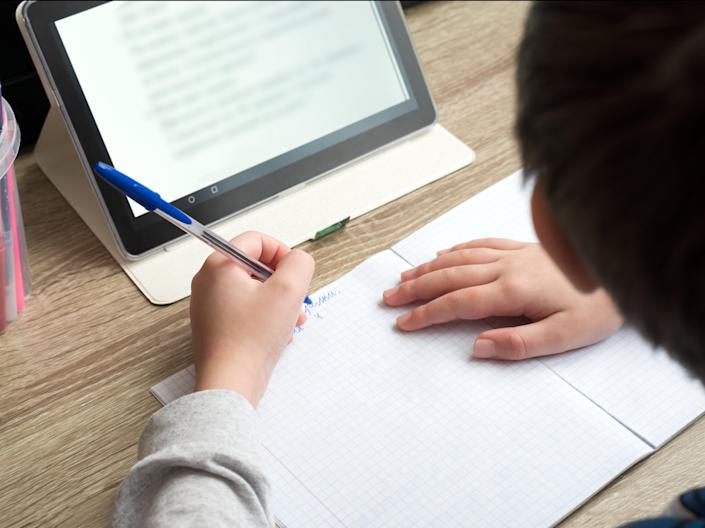 <p>Most pupils were faced with online learning between early January and March this year under England's lockdown over coronavirus</p> (Getty Images/iStockphoto)