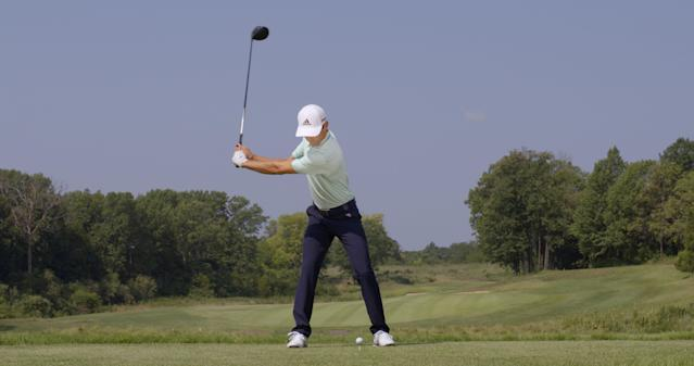 "<p><strong>KEEPING IT CLOSED</strong></p> <p>Niemann maintains a closed clubface as he completes his backswing. ""It's facing skyward at the top,"" McLean says. ""It's a position that encourages lag, which puts more power into the hit."" It also eliminates the need to close the face on the way down, which can improve consistency.</p>"