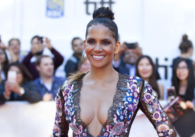 """Actress Halle Berry attends the world premiere of """"Kings"""" during the 2017 Toronto International Film Festival on Sept. 13, 2017. (GEOFF ROBINS via Getty Images)"""