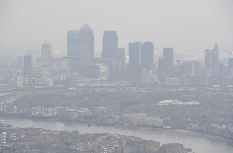 File photo dated 10/04/15 of air pollution over London. More than 160,000 people could die over the next decade from strokes and heart attacks caused by air pollution, a charity has warned. PA Photo. Issue date: Monday January 13, 2020. This is the equivalent of more than 40 heart and circulatory disease deaths related to air pollution every day. The British Heart Foundation (BHF), which compiled the figures, said there are an estimated 11,000 deaths per year at the moment but this will rise as the population continues to age. See PA story HEALTH Pollution. Photo credit should read: Nick Ansell/PA Wire