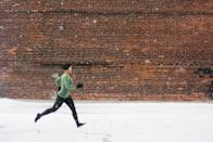 "<p>With snow comes the risk that you'll hit ice on your route. Graman recommends staying on high terrain and avoiding low spots where water tends to pool. If your <a href=""https://www.popsugar.com/fitness/20-minute-outdoor-hiit-running-workout-47931924"" class=""link rapid-noclick-resp"" rel=""nofollow noopener"" target=""_blank"" data-ylk=""slk:run includes sprints"">run includes sprints</a>, first slowly jog the path you want to sprint to ensure there's no ice. ""Slipping when sprinting is much more common, and we can prevent this as best we can if we do a prelap to make sure that it's a safe place to run,"" Graman told POPSUGAR.</p>"