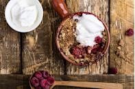 "<p>Most Americans eat 14 to 17 g of fiber per day; add just 10 g and reduce your risk of dying from heart disease by 17%, according to a Netherlands study. Dietary fiber helps reduce total and LDL (""bad"") cholesterol, improve insulin sensitivity, and boost weight loss.<br>One easy fix: Top your oatmeal (½ cup dry has 4 g fiber) with 1 cup of raspberries (8 g) and you get 12 g of fiber in just one meal. Other potent fiber-rich foods: ½ cup of 100% bran cereal (8.8 g), ½ cup of cooked lentils (7.8 g), ½ cup of cooked black beans (7.5 g), one medium sweet potato (4.8 g), one small pear (4.3 g). </p>"