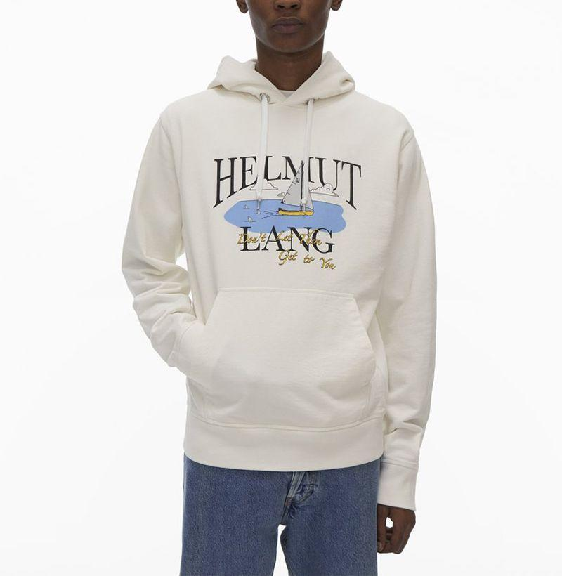 """<p><strong>Saintwoods x Helmut Lang</strong></p><p>saintwoods.com</p><p><strong>385.00</strong></p><p><a href=""""https://saintwoods.com/collections/all/products/hl-ocean-hoodie-1"""" rel=""""nofollow noopener"""" target=""""_blank"""" data-ylk=""""slk:Buy"""" class=""""link rapid-noclick-resp"""">Buy</a></p><p>Words to live by. </p>"""