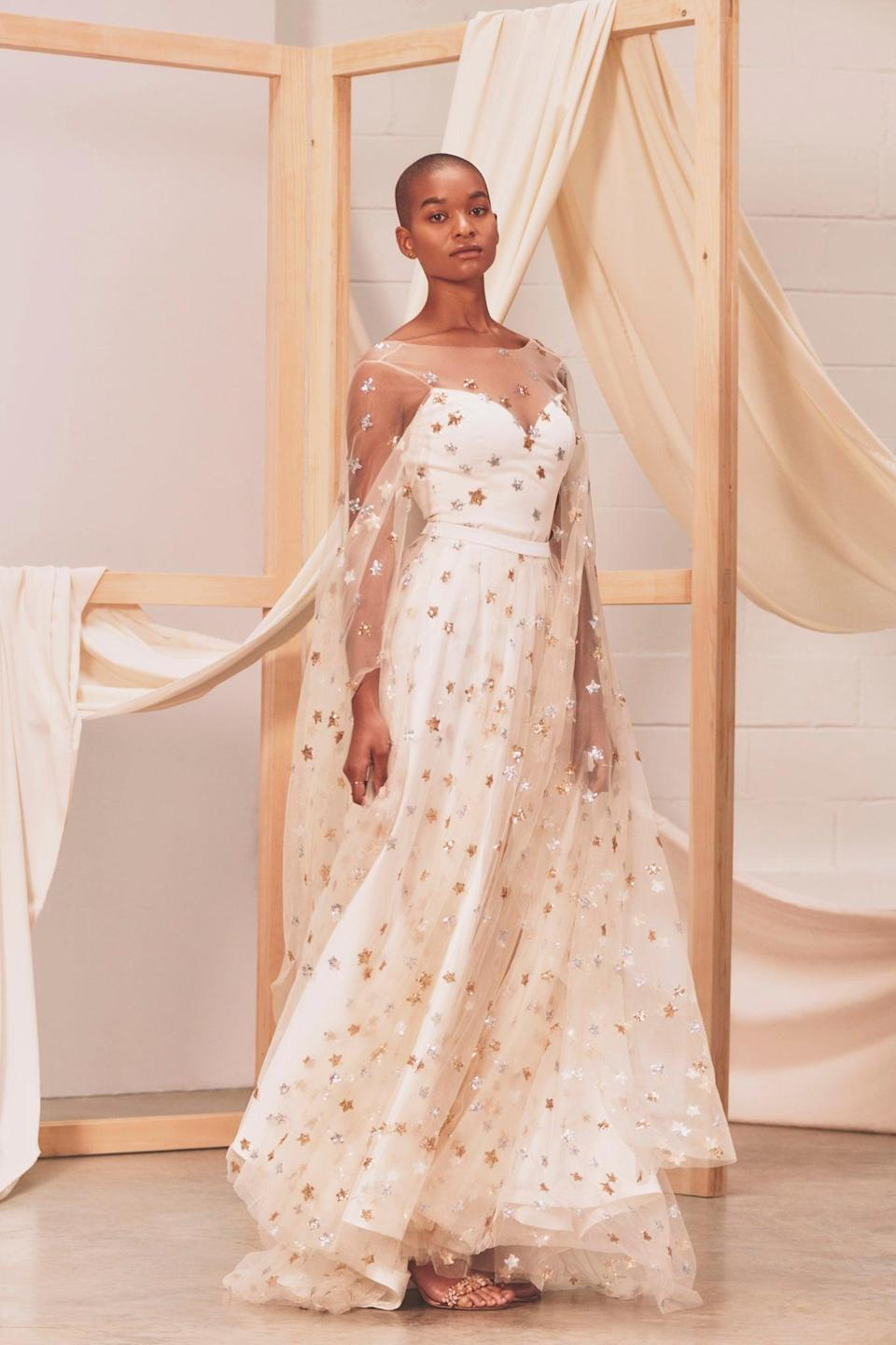 """<h3><a href=""""https://www.etsy.com/listing/808483259/estelle-celestial-wedding-dress-bridalhttps://www.etsy.com/listing/808483259/estelle-celestial-wedding-dress-bridal"""" rel=""""nofollow noopener"""" target=""""_blank"""" data-ylk=""""slk:Celestial Wedding Dress"""" class=""""link rapid-noclick-resp"""">Celestial Wedding Dress</a></h3><br><em> Wedding Category Winner</em><br><br>Lithuania-based designer Inge Staylte creates a collection of ethereal bespoke garments that are made-to-measure, focusing on comfort and inclusive sizing. <br><br><strong>WardrobeByDulcinea</strong> Celestial Wedding Dress, $, available at <a href=""""https://go.skimresources.com/?id=30283X879131&url=https%3A%2F%2Fwww.etsy.com%2Flisting%2F808483259%2Festelle-celestial-wedding-dress-bridal"""" rel=""""nofollow noopener"""" target=""""_blank"""" data-ylk=""""slk:Etsy"""" class=""""link rapid-noclick-resp"""">Etsy</a>"""