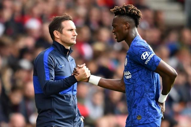 Tammy Abraham has been the standout academy graduate Chelsea boss Frank Lampard has put his trust in (AFP Photo/Glyn KIRK )