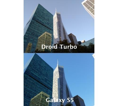 Comparison of photos taken with Motorola Droid Turbo and Galaxy S5