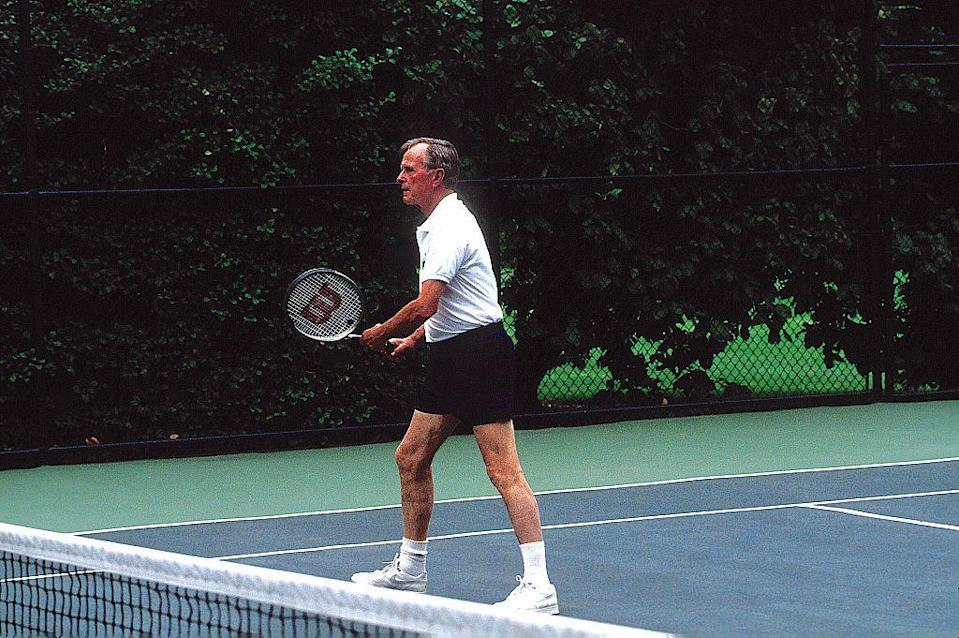 <p>Back in 1991, former President George H.W. Bush once played doubles tennis with South Korean president Roh Tae Woo against their official ambassadors. </p>