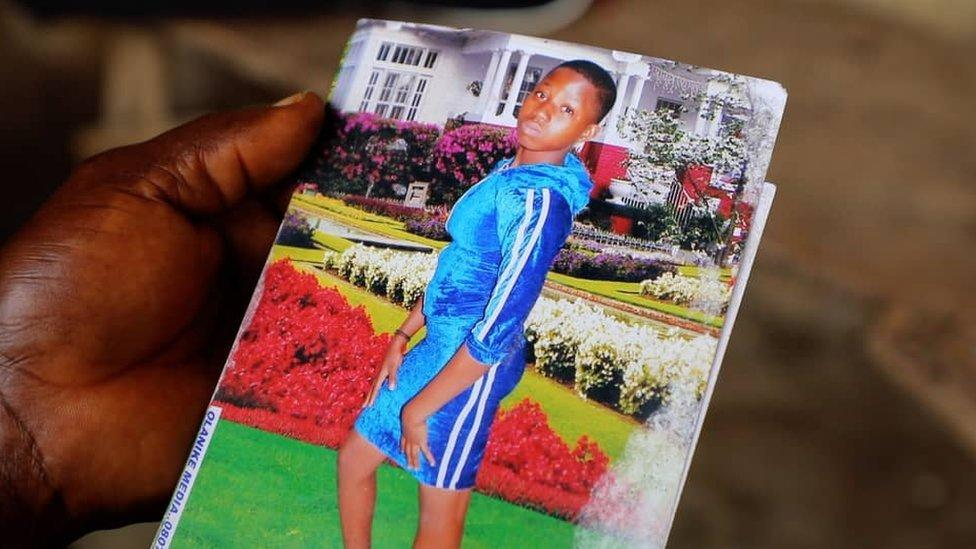Tina, 16, was shot by a policeman in Lagos