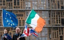 """When a post-Brexit transition period ended in January, a new """"protocol"""" for Northern Ireland came into place, with checks at ports keeping it effectively in the EU customs union and single market for goods"""