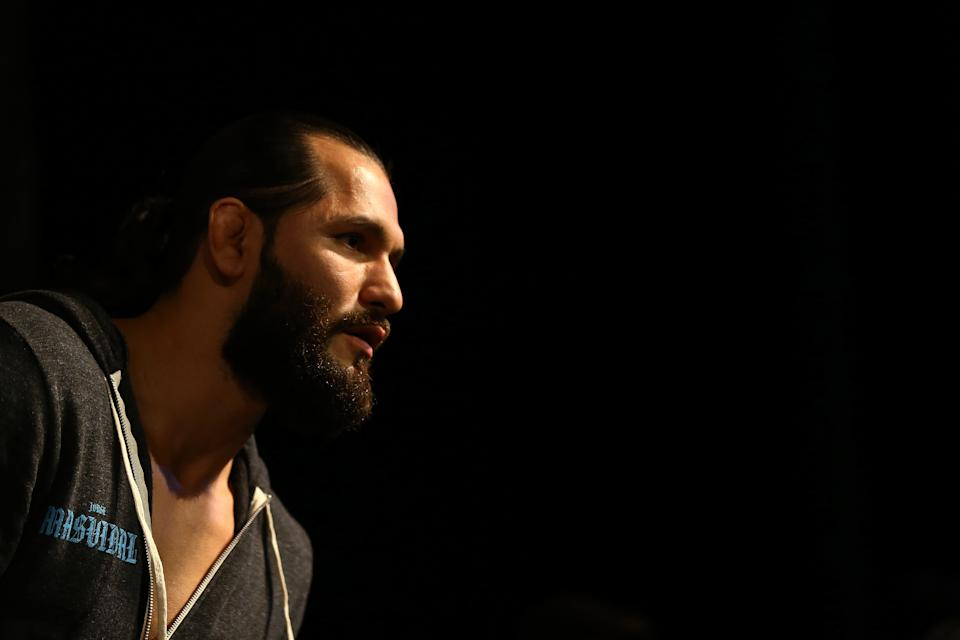 NEW YORK, NEW YORK - OCTOBER 30:  UFC fighter Jorge Masvidal fields questions from the media during open workouts for UFC 244 at The Hulu Theater at Madison Square Garden on October 30, 2019 in New York City. (Photo by Mike Stobe/Zuffa LLC)