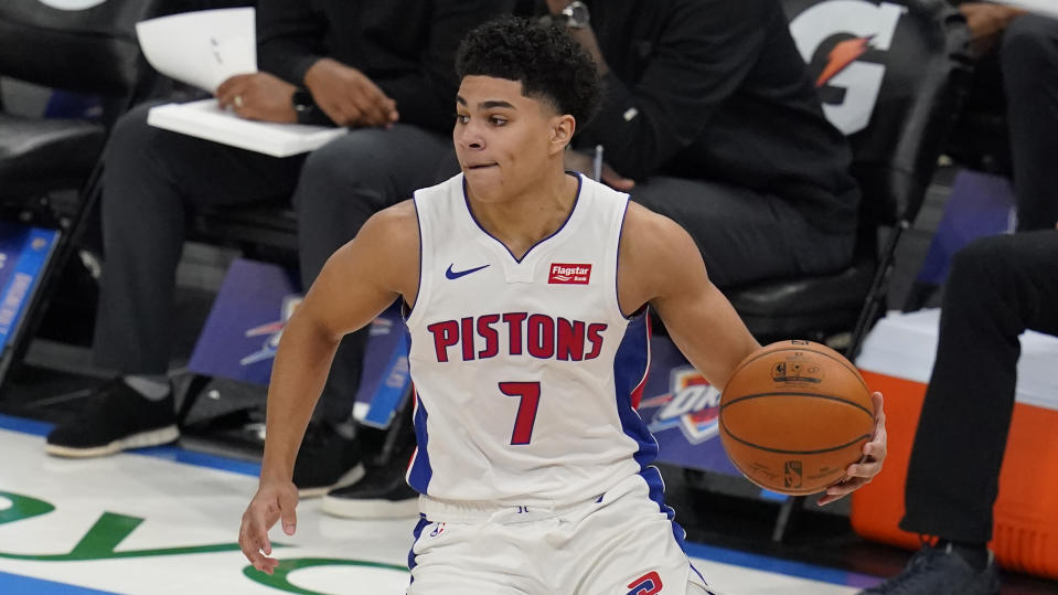 Detroit Pistons guard Killian Hayes (7)
