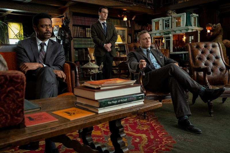"""LaKeith Stanfield, Noah Segan and Daniel Craig in """"Knives Out"""" (Photo: Lionsgate)"""