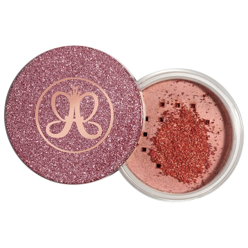 "<p>The shine that the <a href=""https://www.popsugar.com/buy/Anastasia-Beverly-Hills-Loose-Highlighter-584143?p_name=Anastasia%20Beverly%20Hills%20Loose%20Highlighter&retailer=sephora.com&pid=584143&price=25&evar1=bella%3Aus&evar9=41950877&evar98=https%3A%2F%2Fwww.popsugar.com%2Fbeauty%2Fphoto-gallery%2F41950877%2Fimage%2F47567881%2FAnastasia-Beverly-Hills-Loose-Highlighter&list1=makeup%2Ceyebrows%2Cbeauty%20shopping%2Canastasia%20beverly%20hills&prop13=mobile&pdata=1"" class=""link rapid-noclick-resp"" rel=""nofollow noopener"" target=""_blank"" data-ylk=""slk:Anastasia Beverly Hills Loose Highlighter"">Anastasia Beverly Hills Loose Highlighter</a> ($25) gives off is enough to blind you. The shimmery loose powder contains reflective, iridescent pearls that help intensify the sparkle. It comes in four shades, including our favorite, Peach Fizz, a coral gold.</p>"