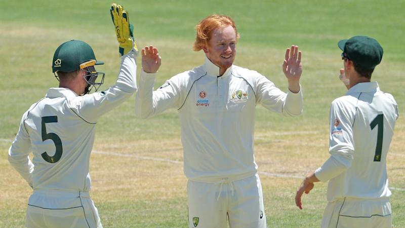 Lloyd Pope claimed five wickets, but Pakistan recovered against a Cricket Australia XI in Perth