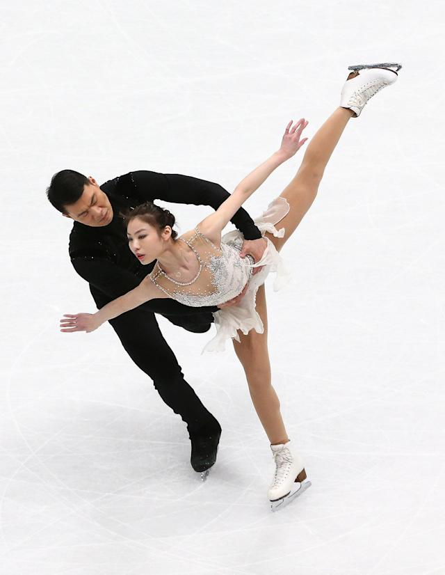 Figure Skating - World Figure Skating Championships - The Mediolanum Forum, Milan, Italy - March 21, 2018 China's Yu Xiaoyu and Zhang Hao during the Pairs Short Programme REUTERS/Alessandro Bianchi