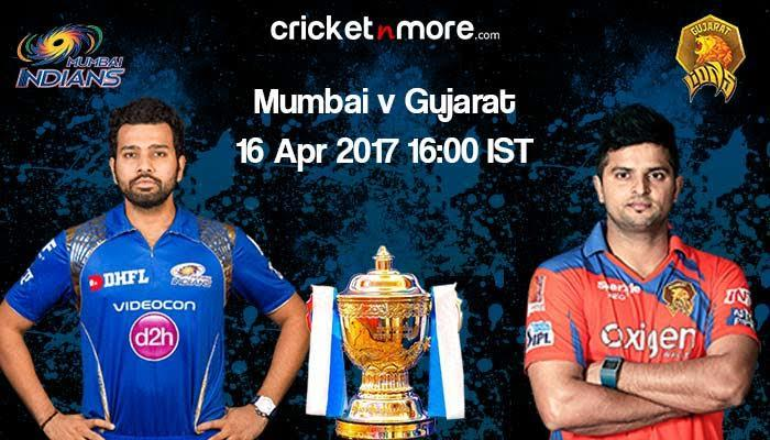 IPL 10: High-flying Mumbai Indians face confident Gujarat Lions