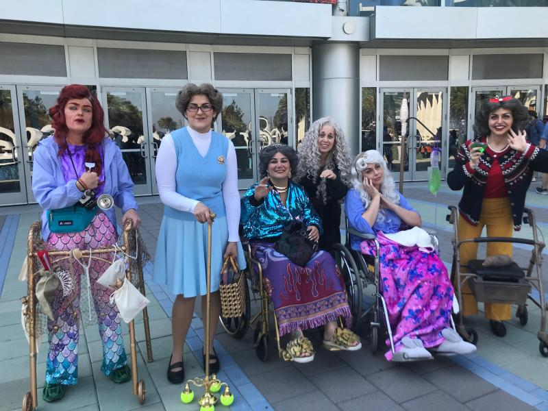 Older versions of The Little Mermaid, Belle, Jasmine (from Aladdin), Merida from Brave, Sleeping Beauty and Snow White. Image: Yahoo Finance