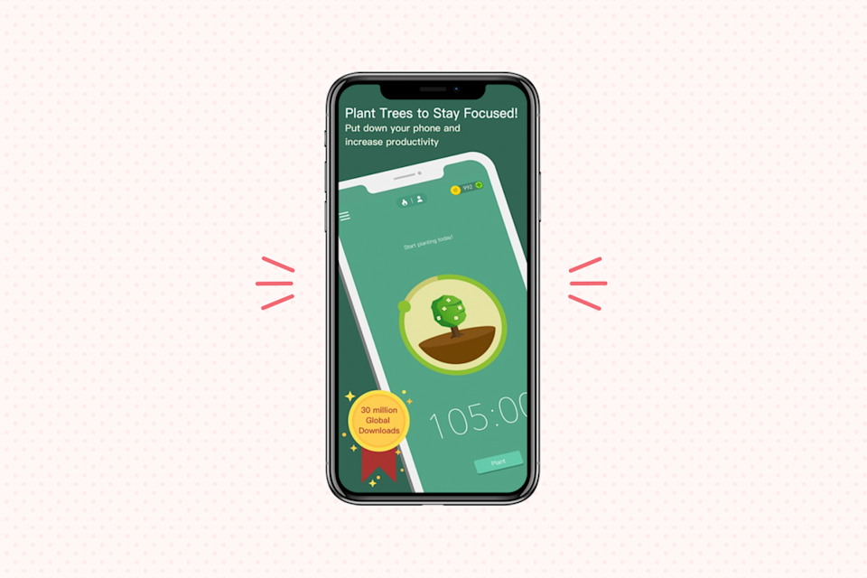 """<p>Do you easily get distracted on your phone? This unique app <strong>motivates you to put down the screen and stay focused on your task</strong>. The premise of <a href=""""https://www.forestapp.cc/"""" rel=""""nofollow noopener"""" target=""""_blank"""" data-ylk=""""slk:Forest"""" class=""""link rapid-noclick-resp"""">Forest</a> is simple: Plant a seed when you're ready to get to work, then set a timer. If you stick to the task, your tree grows — but if you exit the app for whatever reason, your tree dies. Soon you can grow entire forests! (Plus, the app has also partnered with <a href=""""https://trees.org/sponsor/forest-app/"""" rel=""""nofollow noopener"""" target=""""_blank"""" data-ylk=""""slk:Trees of the Future"""" class=""""link rapid-noclick-resp"""">Trees of the Future</a> to plant <em>actual</em> trees, so you can <a href=""""https://www.goodhousekeeping.com/life/g19851547/earth-day-tips/"""" rel=""""nofollow noopener"""" target=""""_blank"""" data-ylk=""""slk:help the planet"""" class=""""link rapid-noclick-resp"""">help the planet</a> while helping yourself!)</p><p><strong>Cost</strong>: $1.99</p><p><strong><strong>Get it for </strong><a href=""""https://play.google.com/store/apps/details?id=cc.forestapp&hl=en_US"""" rel=""""nofollow noopener"""" target=""""_blank"""" data-ylk=""""slk:Android"""" class=""""link rapid-noclick-resp"""">Android</a> or <a href=""""https://apps.apple.com/us/app/forest-stay-focused/id866450515"""" rel=""""nofollow noopener"""" target=""""_blank"""" data-ylk=""""slk:IOS"""" class=""""link rapid-noclick-resp"""">IOS</a></strong></p>"""