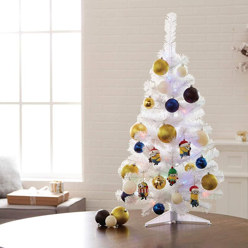 NOMA 3-Foot Pre-lit Christmas Tree with Lights. (Photo: Amazon)