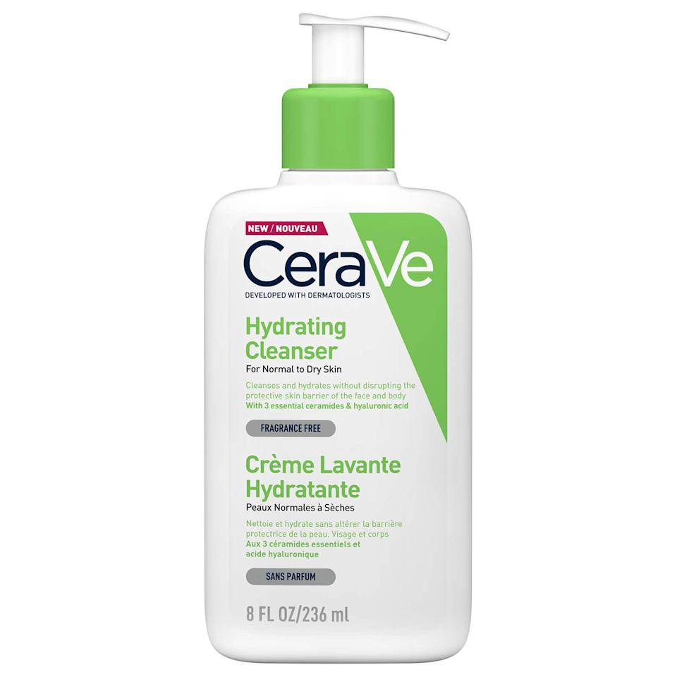 """<p>CeraVe's Hydrating Cleanser is a <a href=""""https://www.allure.com/review/cerave-hydrating-cleanser?mbid=synd_yahoo_rss"""">2019 Best of Beauty Award-winner</a> and recommended by just about every dermatologist in the book. And that's for a good reason: It's ultra-gentle yet still extremely effective at removing debris, dirt, pollutants, and light makeup without stripping skin. Board-certified, New York City-based dermatologist <a href=""""https://nyulangone.org/doctors/1831488014/melissa-k-levin"""">Melissa Levin</a> says it's one of her favorites for sensitive skin types because it's <a href=""""https://www.allure.com/gallery/best-ceramide-skin-care-products?mbid=synd_yahoo_rss"""">chock full of ceramides</a>. """"They're critical for maintaining the skin barrier and water retention,"""" she explains, adding that this is especially crucial for those with reactive, easily irritated complexions.</p> <p><strong>$15</strong> (<a href=""""https://shop-links.co/1686294340930982979"""" rel=""""nofollow"""">Shop Now</a>)</p>"""