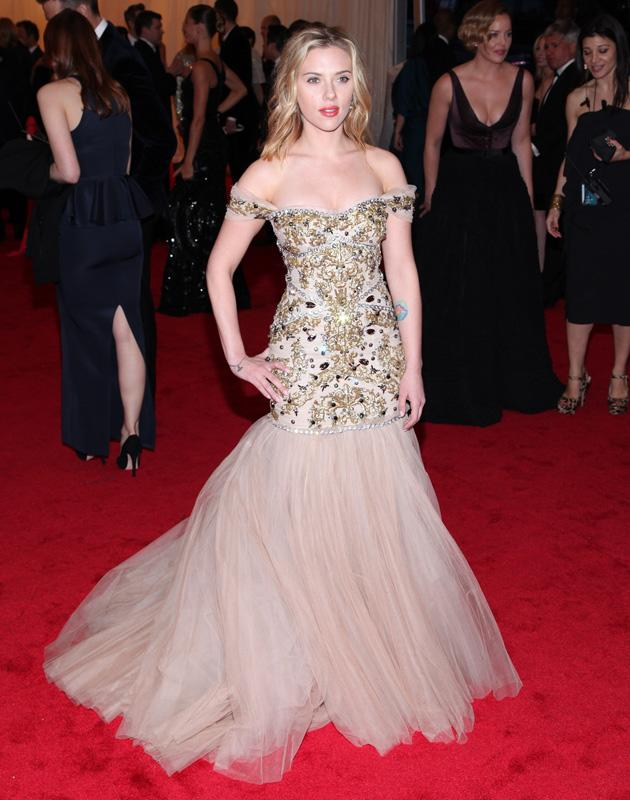 # Scarlett Johansson went with a Dolce & Gabbana creation / WENN