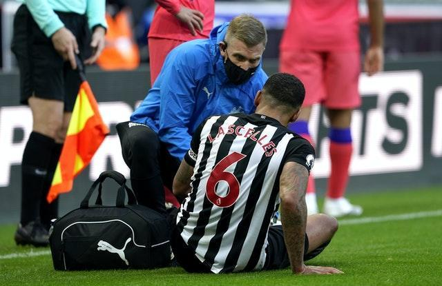 Jamaal Lascelles was forced off