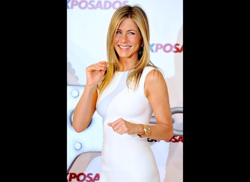 MADRID, SPAIN - MARCH 30: Actress Jennifer Aniston attends 'Exposados' (The Bounty Hunter) photocall at the Villamagna Hotel on March 30, 2010 in Madrid, Spain. (Photo by Carlos Alvarez/Getty Images)